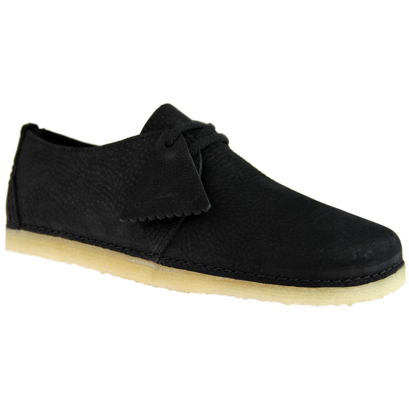 Ashton CLARKS ORIGINALS Women's Nubuck Shoes BLACK