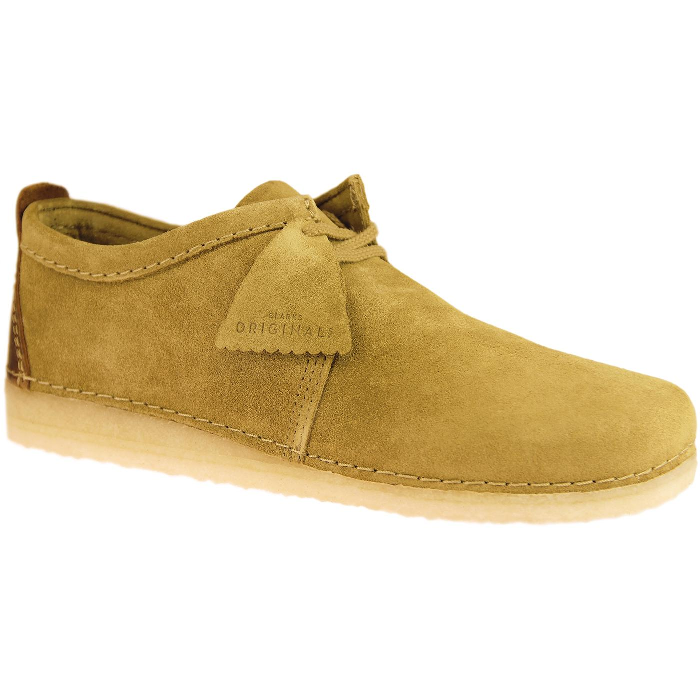 Ashton CLARKS ORIGINALS Retro Mod Suede Shoes OAK