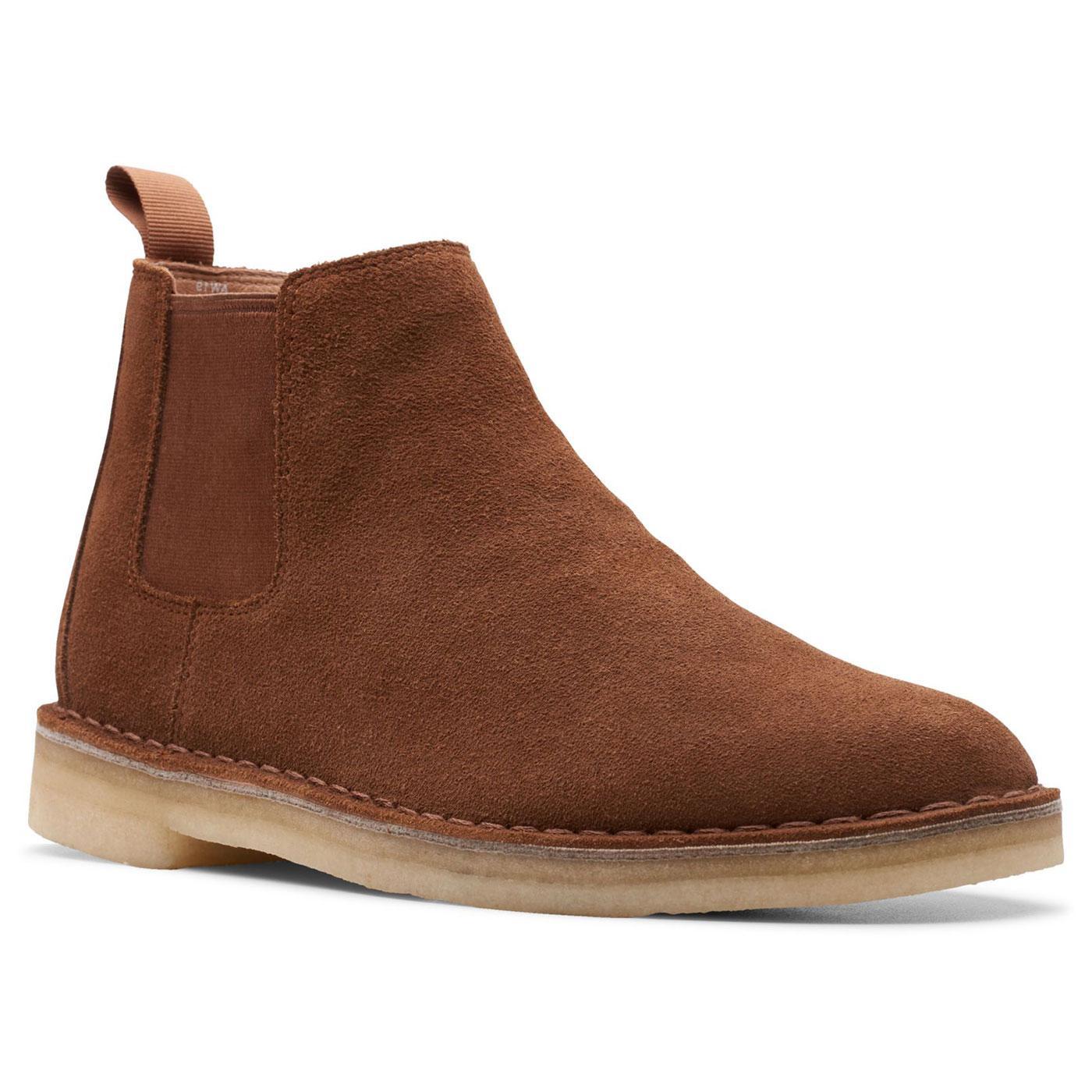 CLARKS ORIGINALS Suede Desert Chelsea Boots COLA