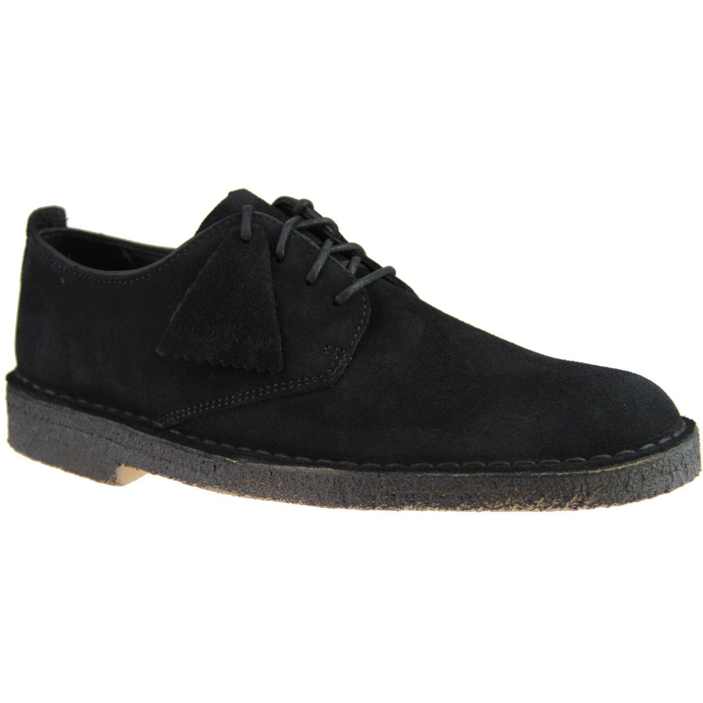 Desert CLARKS ORIGINALS Mens Mod Suede Shoes Black