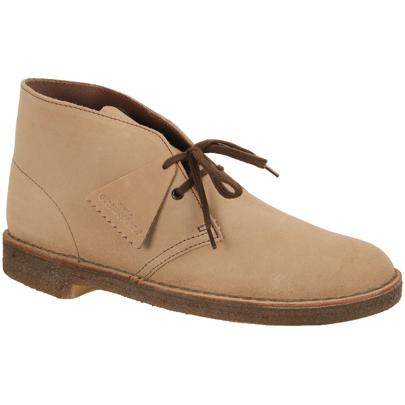 CLARKS ORIGINALS Mod Suede Desert Boots (Wolf)