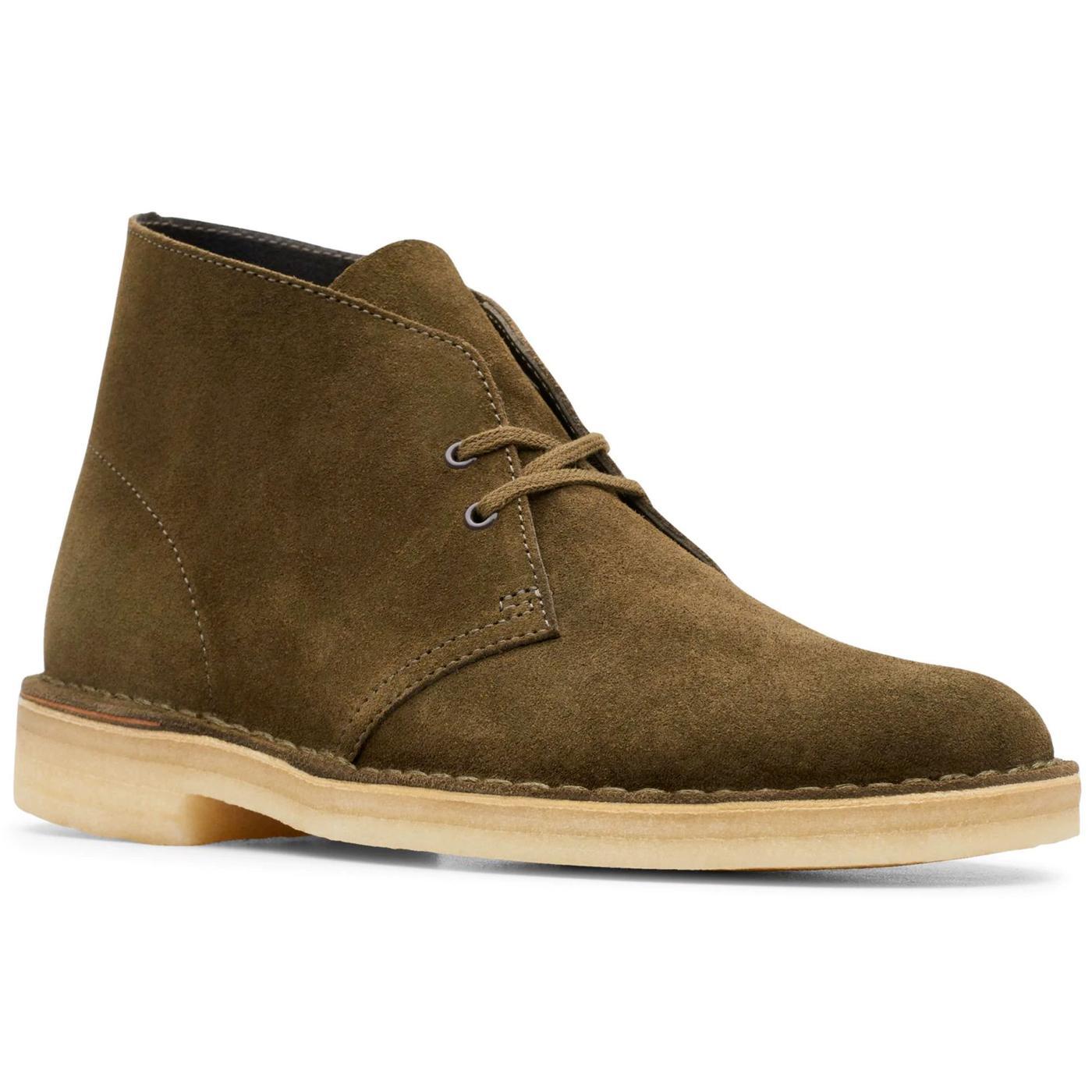 CLARKS ORIGINALS Women's Suede Desert Boots (DO)