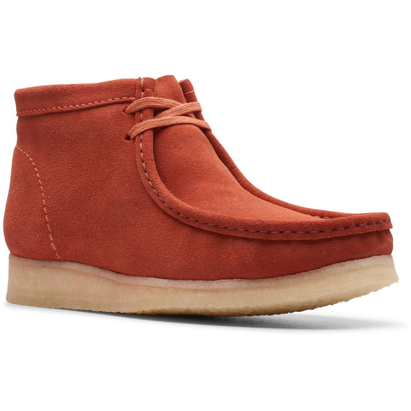 good looking high quality where to buy CLARKS ORIGINALS 'Wallabee' 60s Mod Suede Shoes Burnt Orange