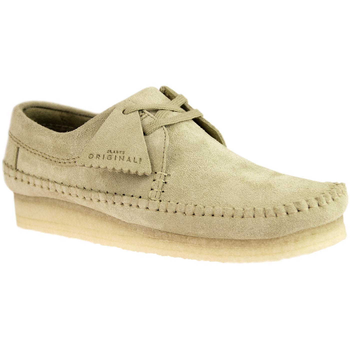 Weaver CLARKS ORIGINALS Suede Moccasin Shoes MAPLE