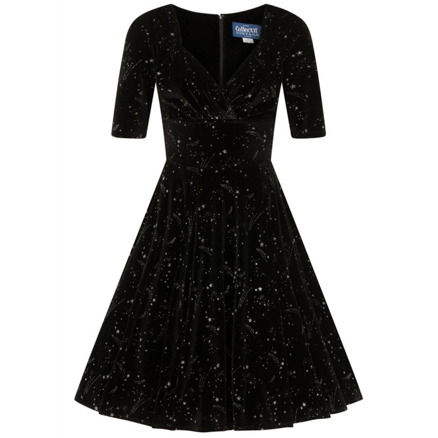 Trixie COLLECTIF 40s Velvet Make A Wish Dress