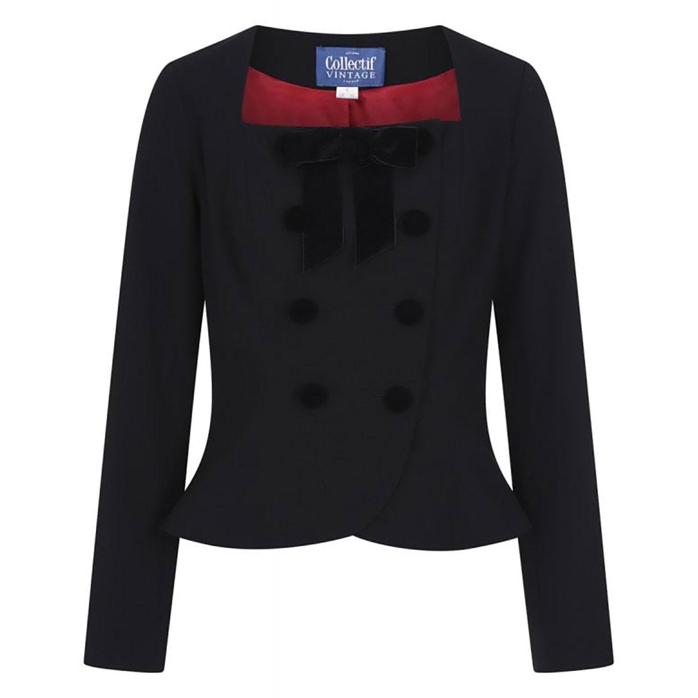 Agatha COLLECTIF Plain Vintage Jacket In Black