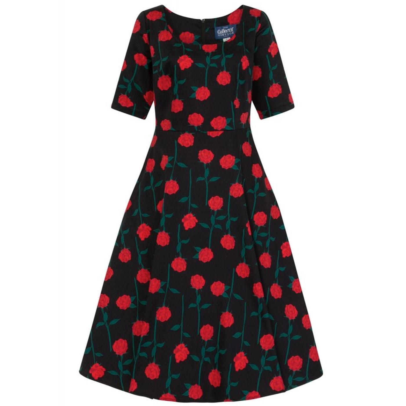Amber Rose COLLECTIF Retro Vintage Swing Dress