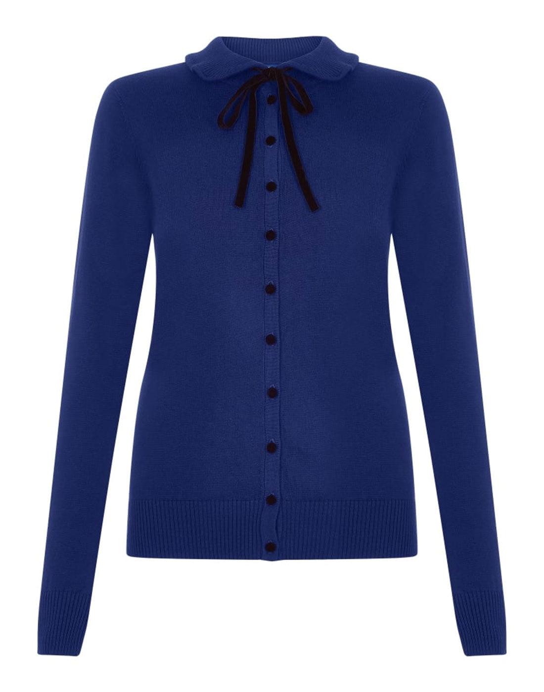 Andi COLLECTIF VINTAGE 1960s Mod Bolo Tie Cardigan