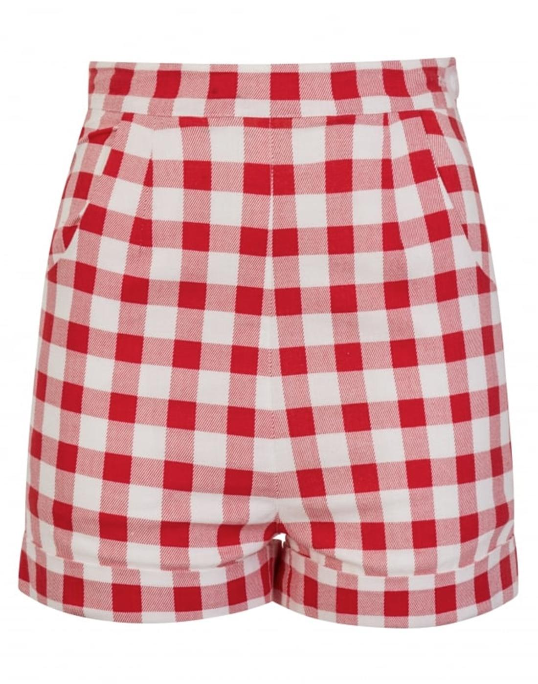 Ayana COLLECTIF Retro High Waist Gingham Shorts