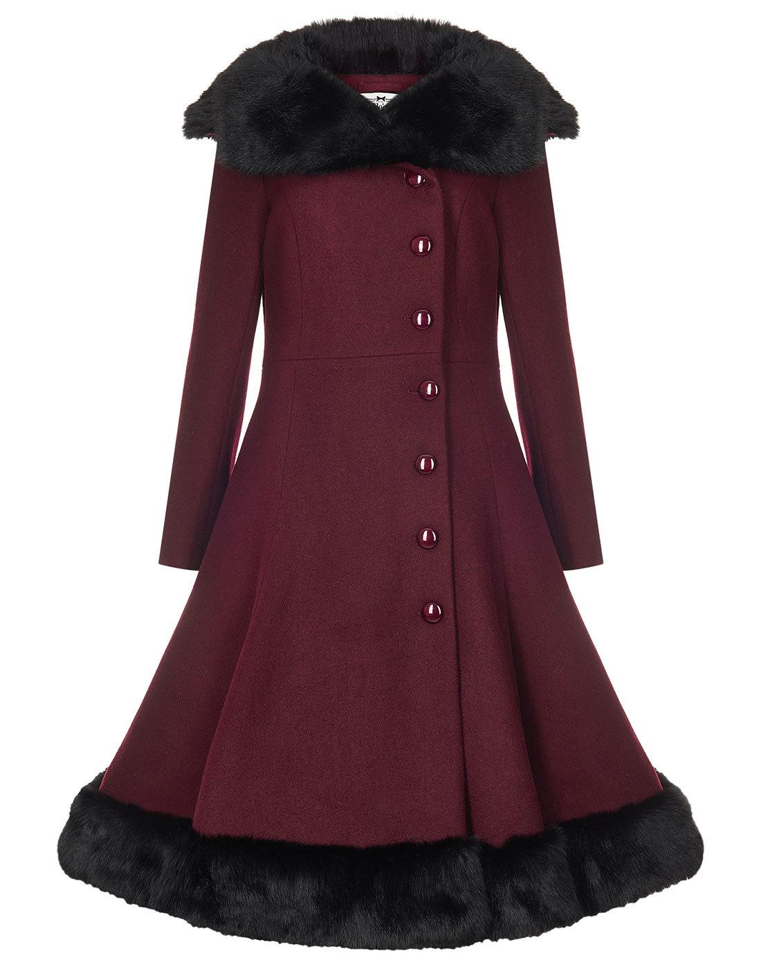 Arlene COLLECTIF VINTAGE 1950s Faux Fur Trim Coat
