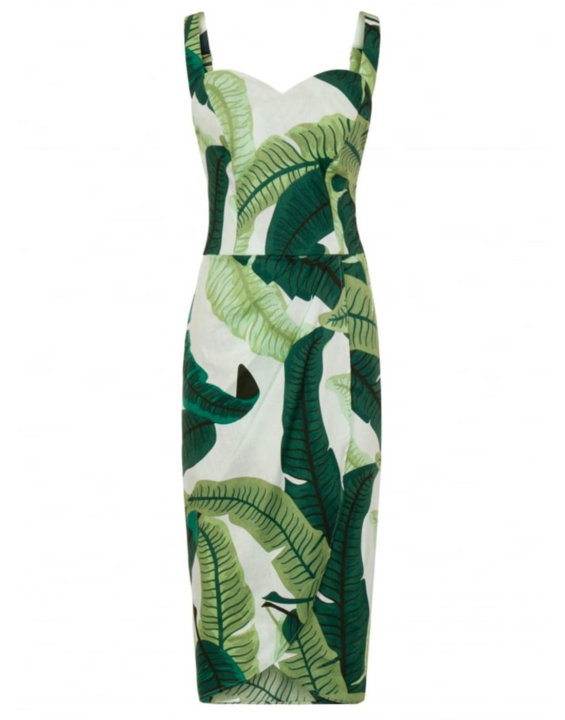 Mahina COLLECTIF Retro Banana Leaf Sarong Dress