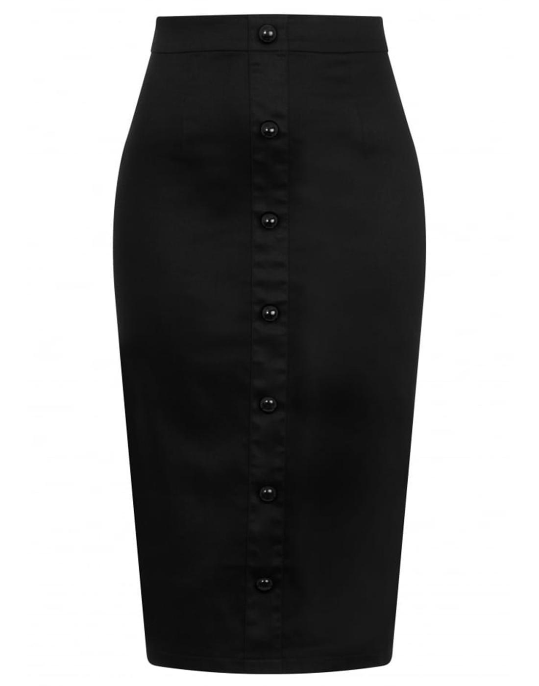 Bettina COLLECTIF Retro Vintage Black Pencil Skirt