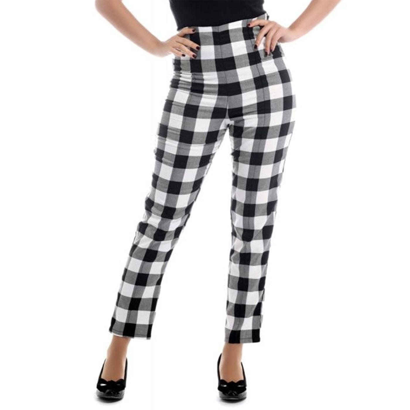 Bonnie COLLECTIF Retro Gingham Cigarette Trousers