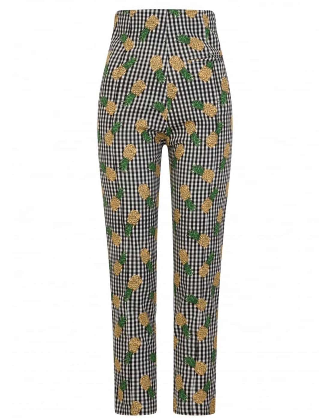 Bonnie COLLECTIF Retro 50s Gingham Cigarette Pants