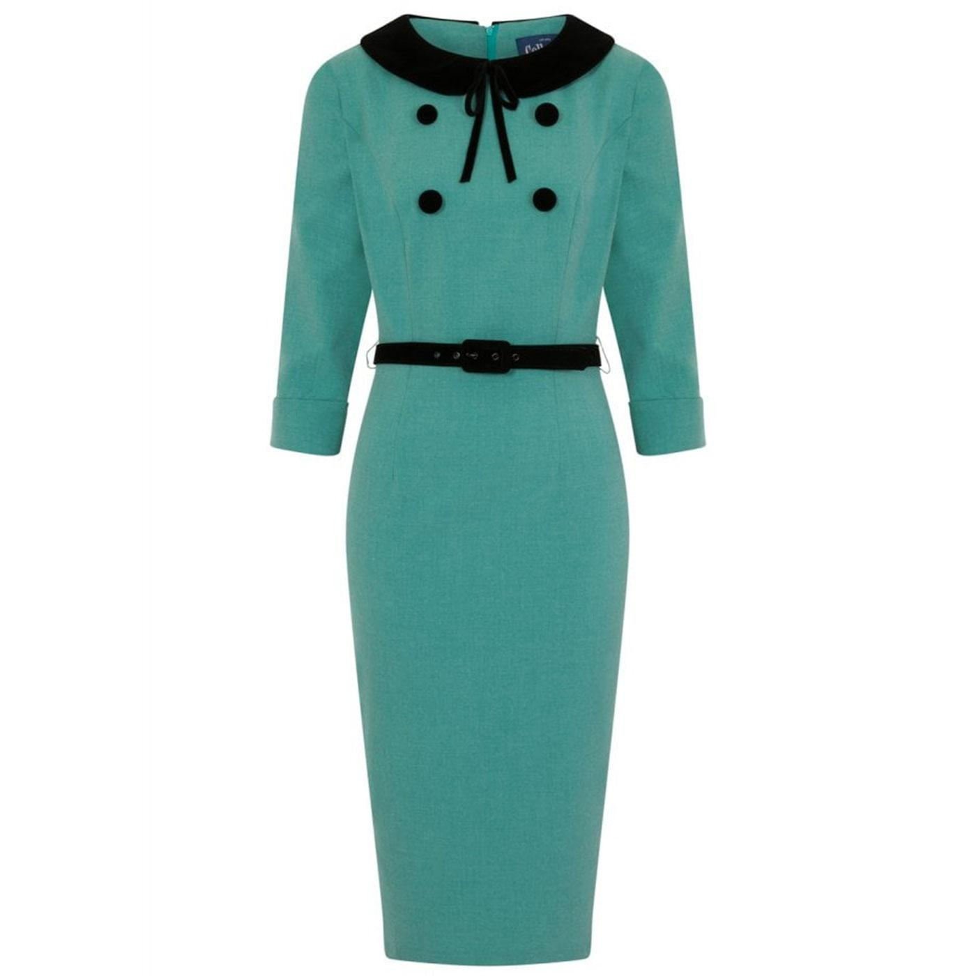 Christine COLLECTIF 50s Vintage Pencil Dress Green