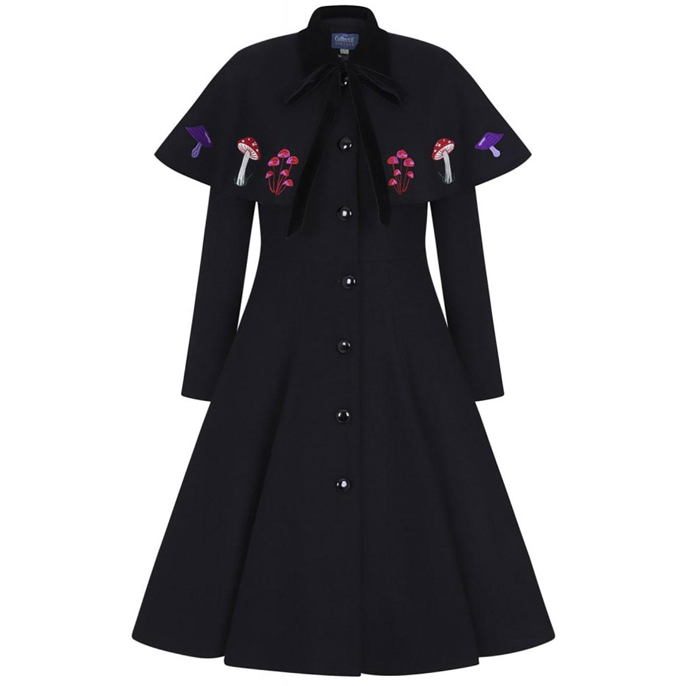 Claudia in Wonderland COLLECTIF Swing Coat & Cape