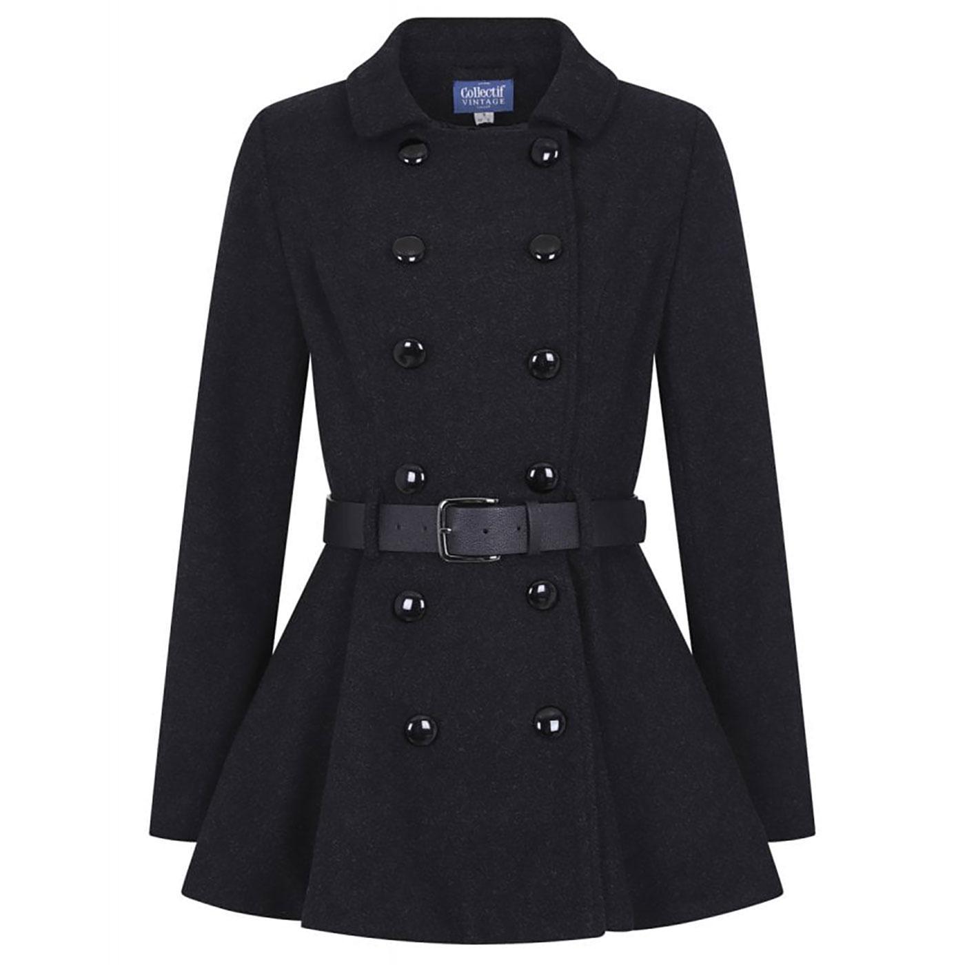 Darienne COLLECTIF Plain Vintage Peplum Jacket