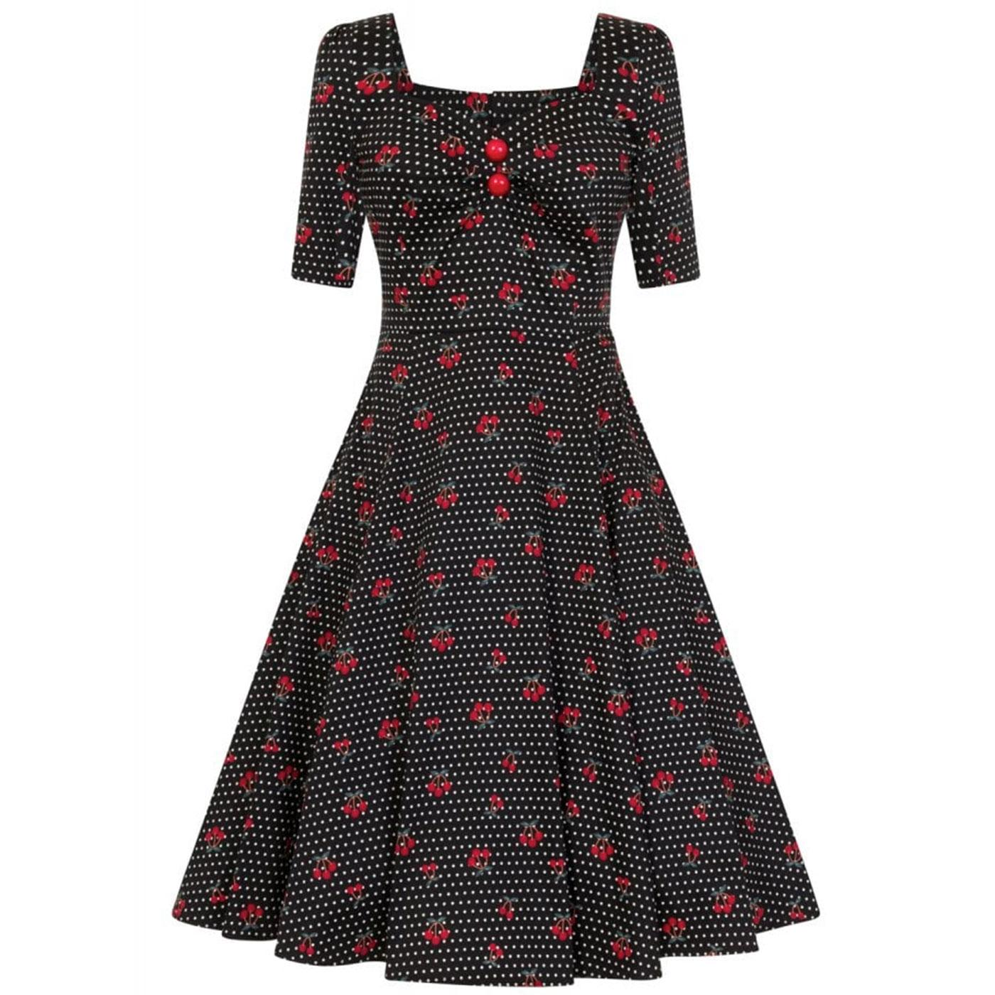 Dolores COLLECTIF Retro 50s Cherry Polka Dot Dress