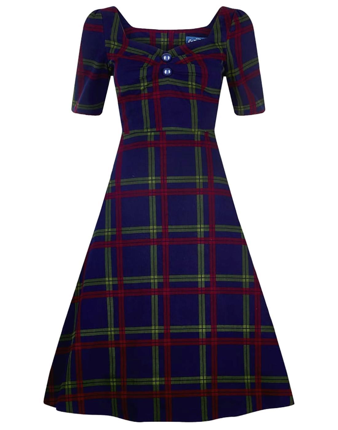 Dolores Darling COLLECTIF Retro Check Doll Dress