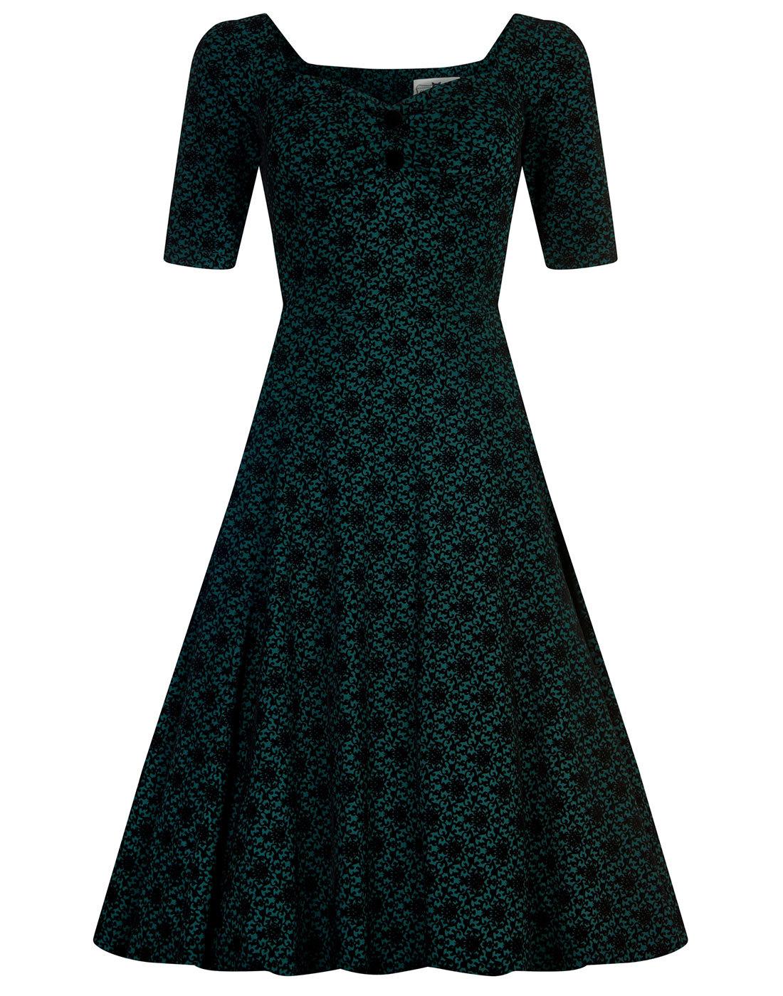 Dolores COLLECTIF Half Sleeve Brocade Doll Dress
