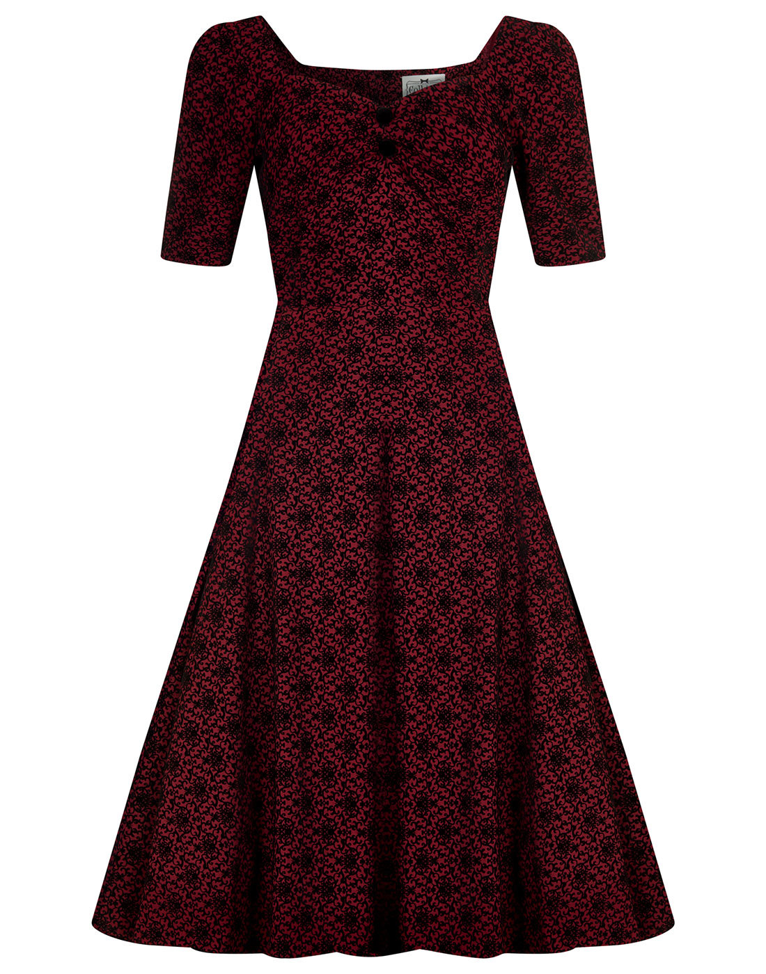 Dolores COLLECTIF Vintage 1950s Brocade Doll Dress