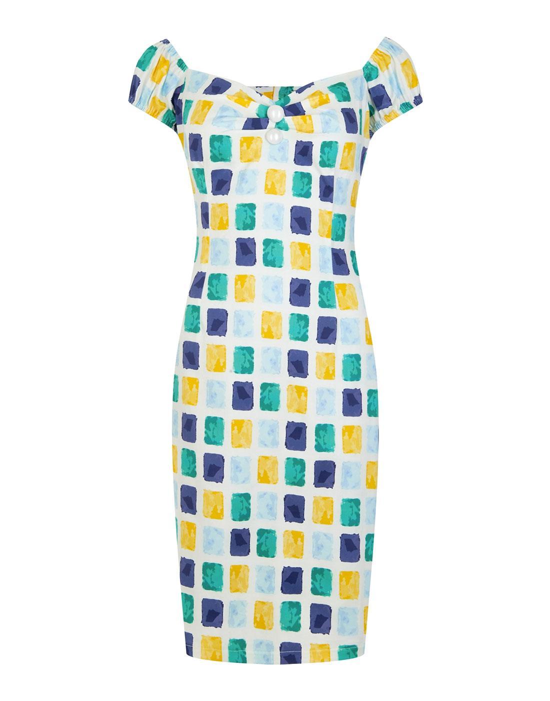 Dolores COLLECTIF Vintage Paint Pot Pencil Dress