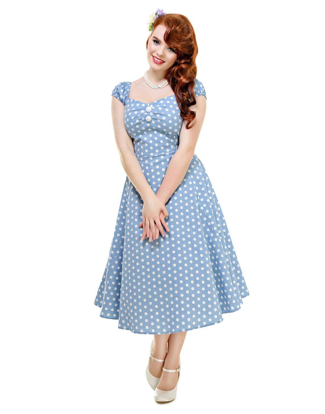 Dolores COLLECTIF Vintage Polka Dot Doll Dress