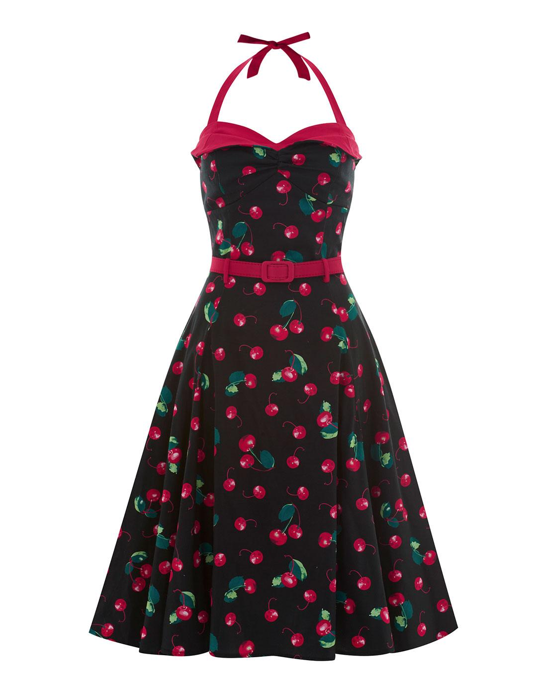 Ginger COLLECTIF 1950s Cherry Print Swing Dress