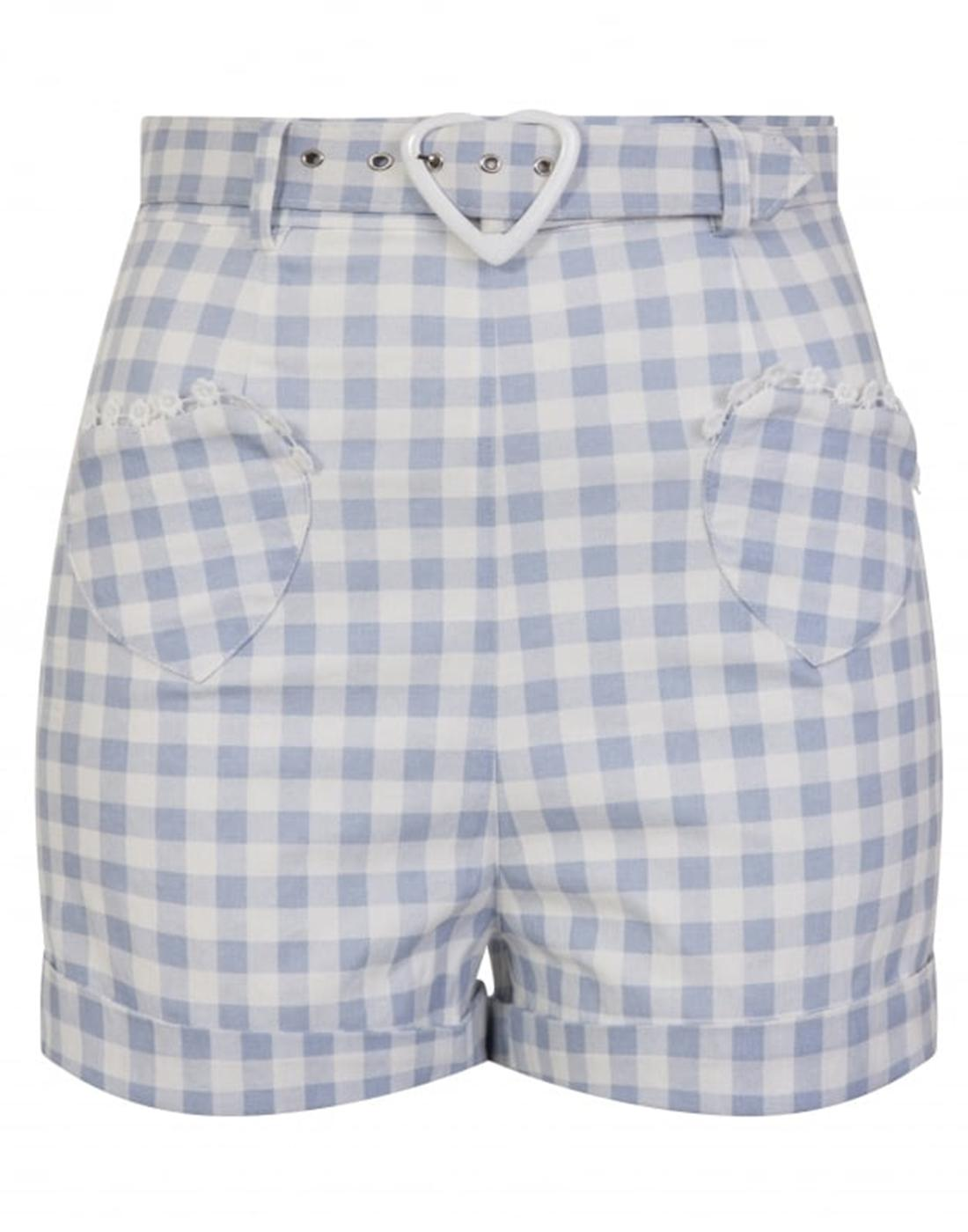 Lisa COLLECTIF Women's Retro 50s Gingham Shorts