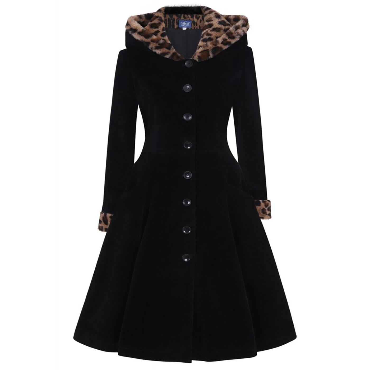 Hazel COLLECTIF Leopard Print Winter Swing Coat