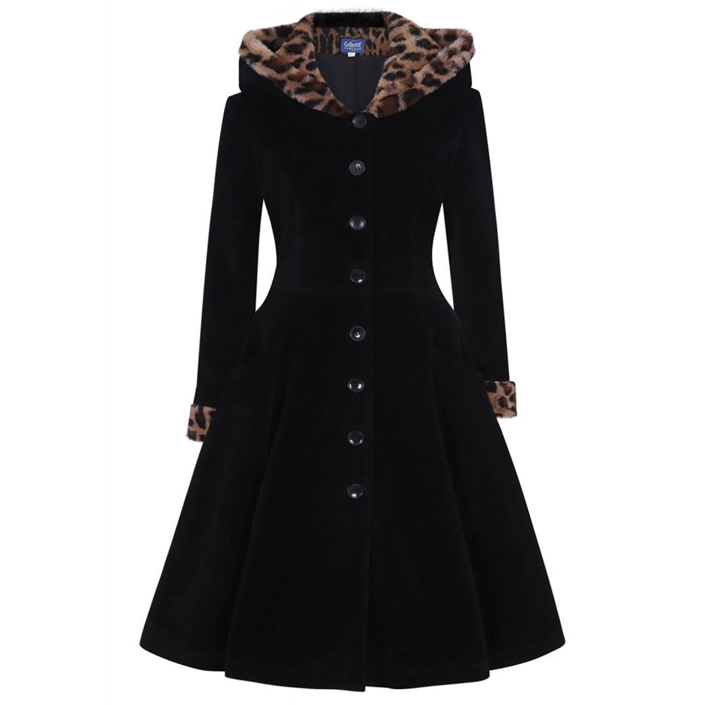 Hazel COLLECTIF Leopard Print Winter Swing Coat