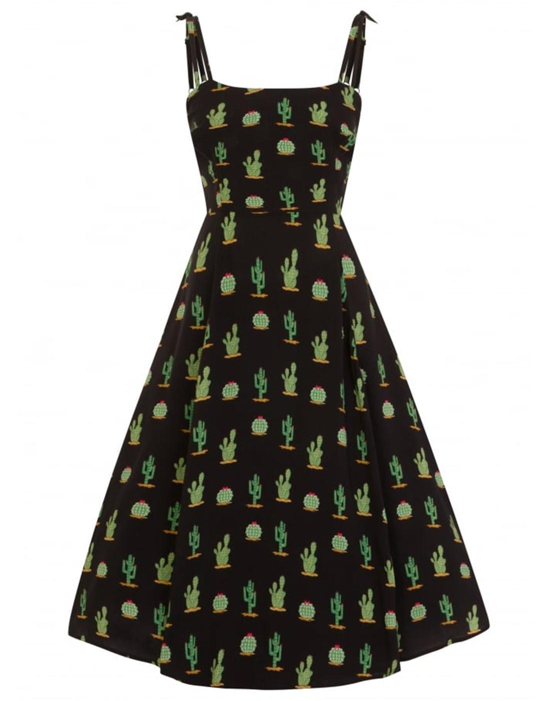 Janie COLLECTIF Retro 50s Cactus Summer Dress