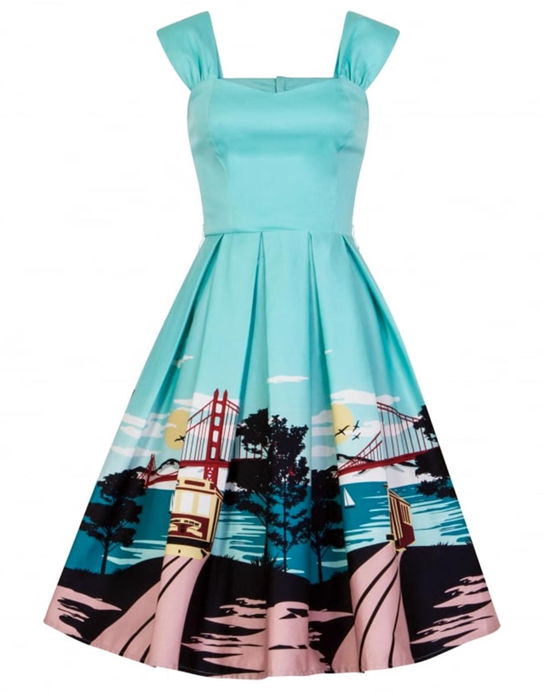 Jill COLLECTIF San Francisco Print Retro 50s Dress