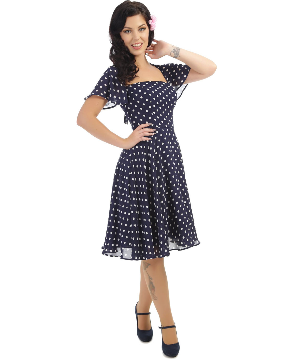 Juliet COLLECTIF VINTAGE 50s Polka Dot Swing Dress