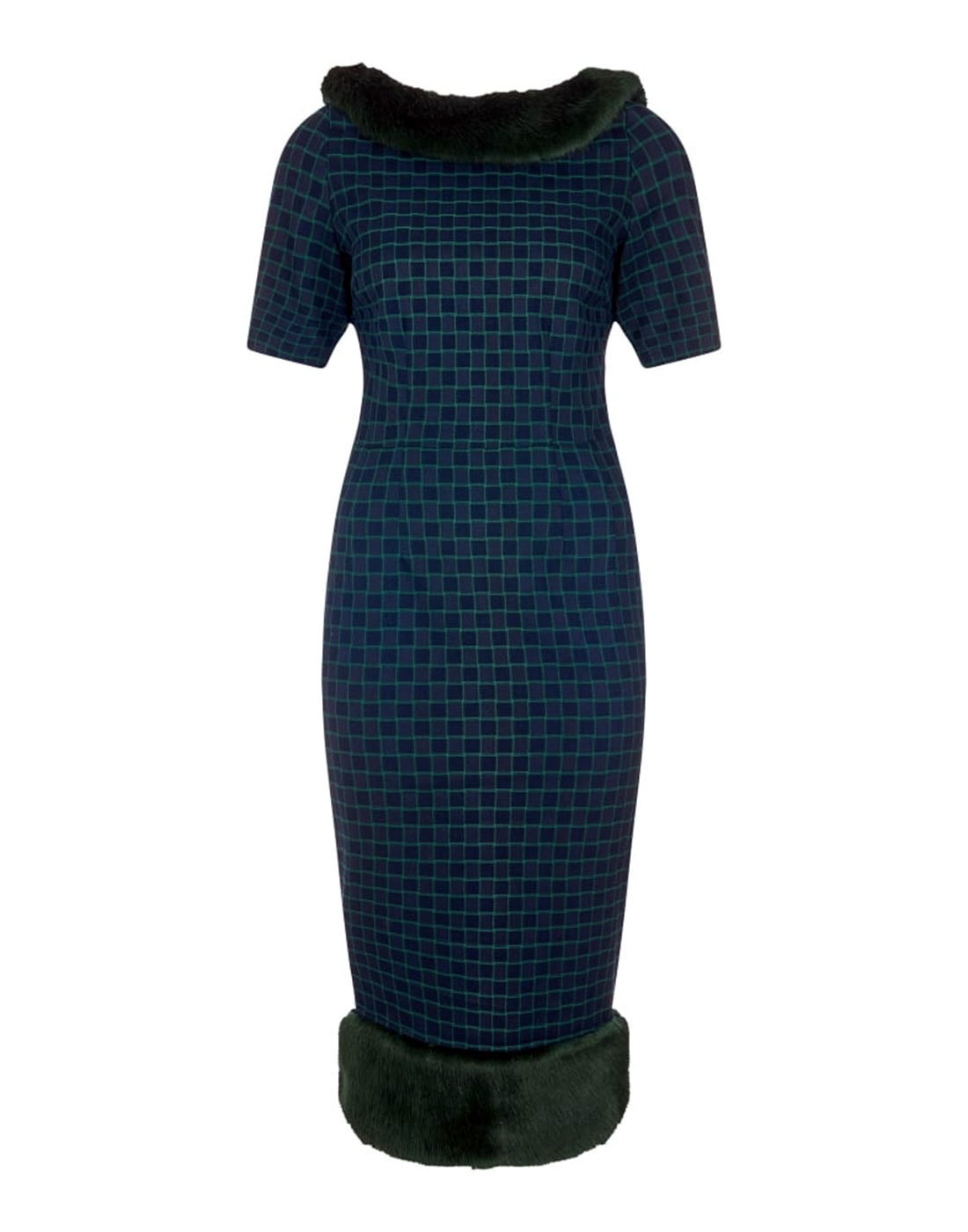 Juliette Chaise Check COLLECTIF 1950s Pencil Dress