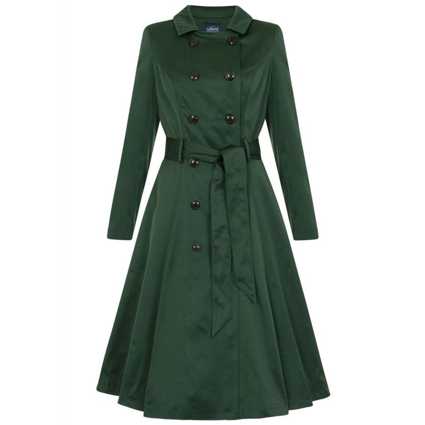 Korrina COLLECTIF Vintage Swing Trench Coat Green