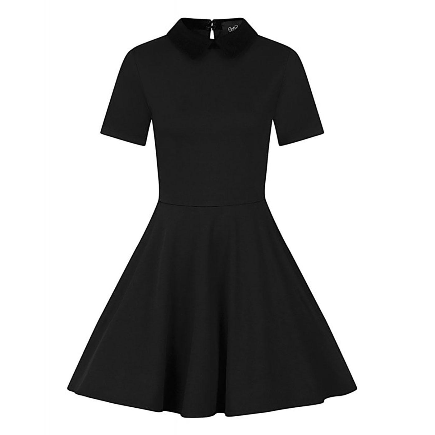 Katy COLLECTIF Peter Pan Collar Retro Skater Dress