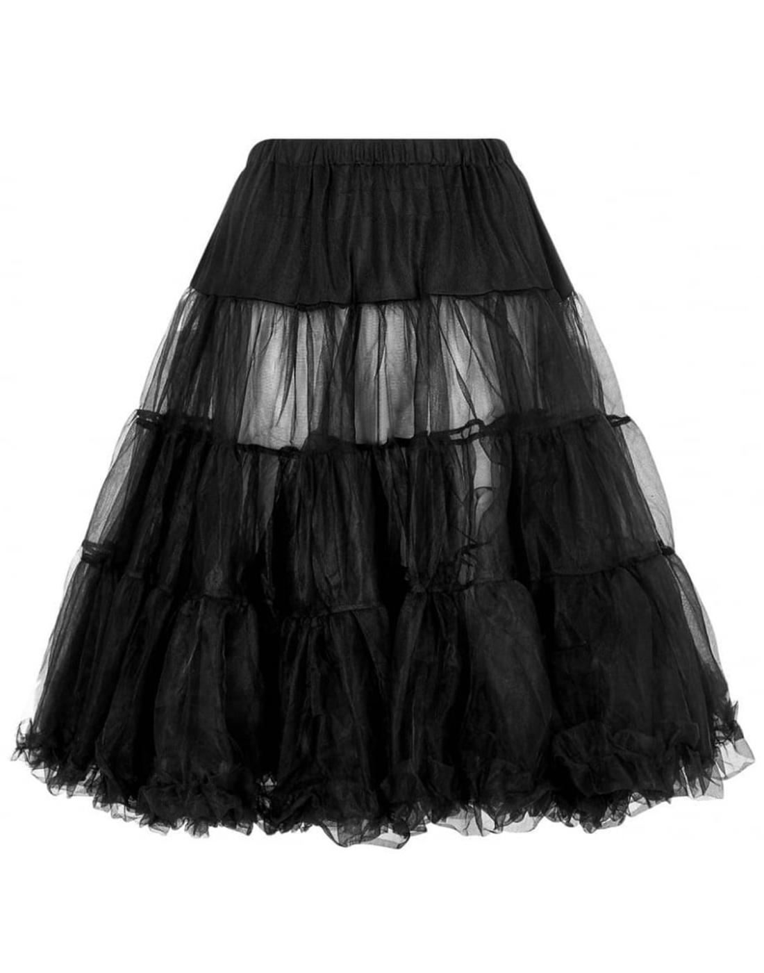 Maddy COLLECTIF Retro Vintage Petticoat in Black