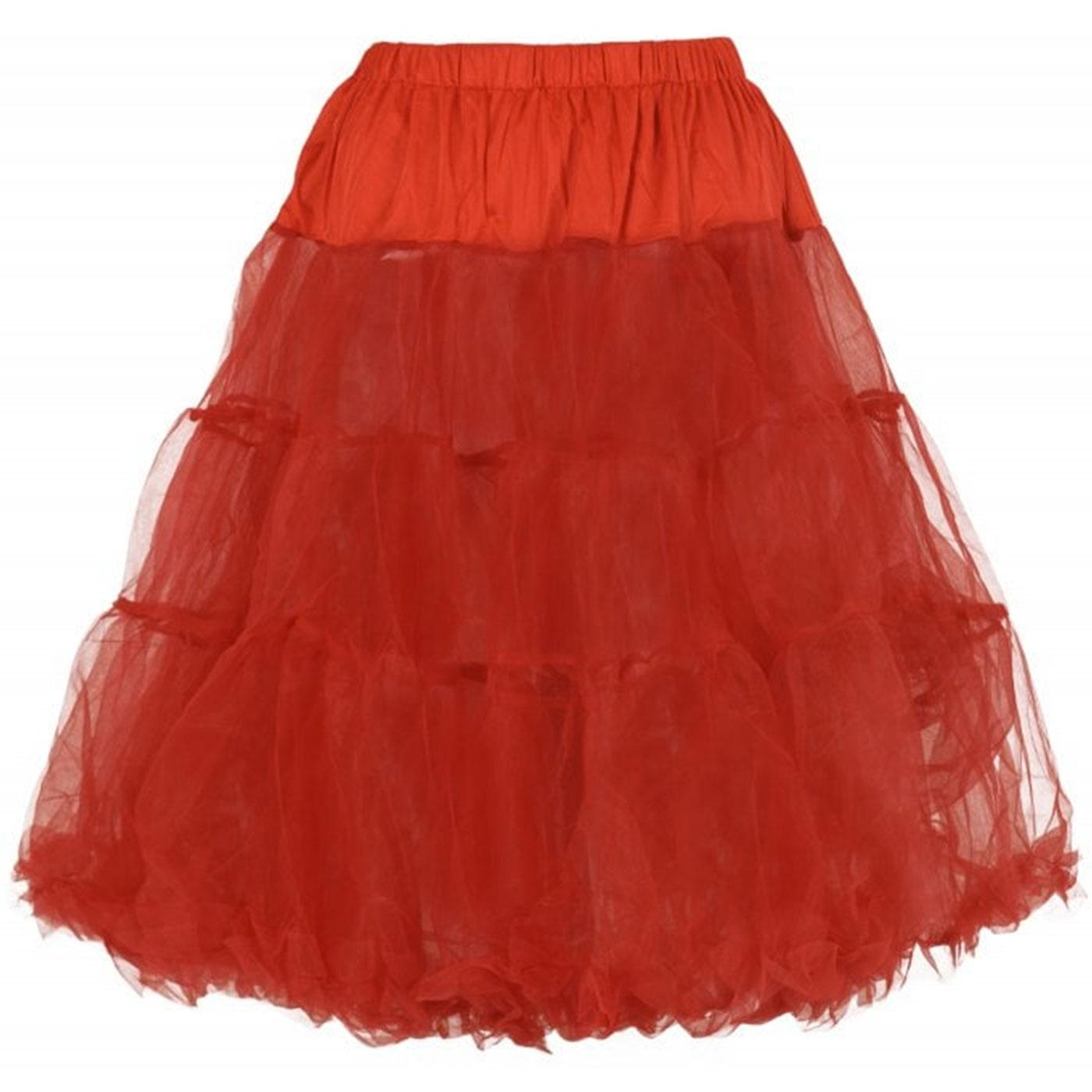 Maddy COLLECTIF Retro Vintage Petticoat in Red