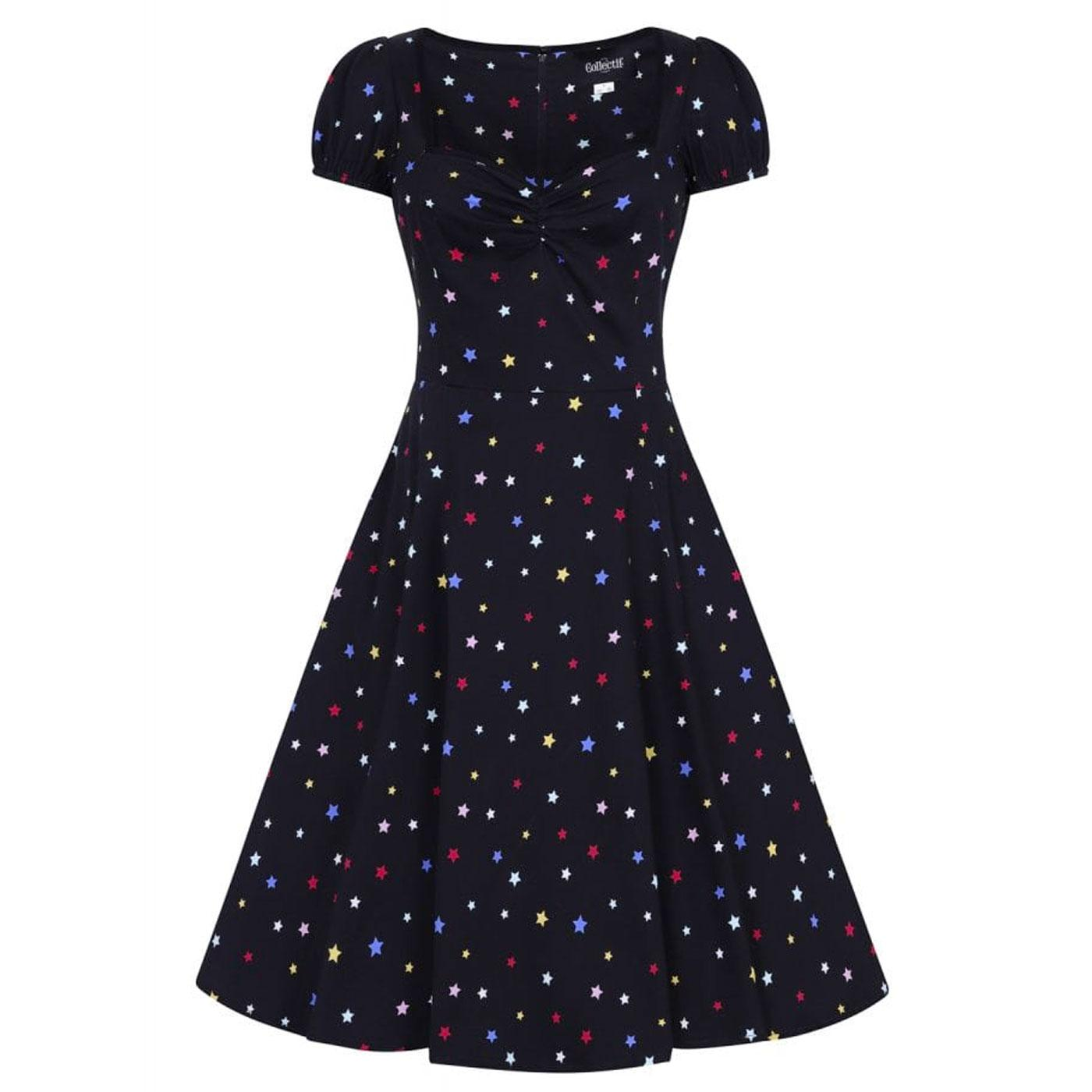 Mimi COLLECTIF Vintage 50s Rainbow Star Doll Dress