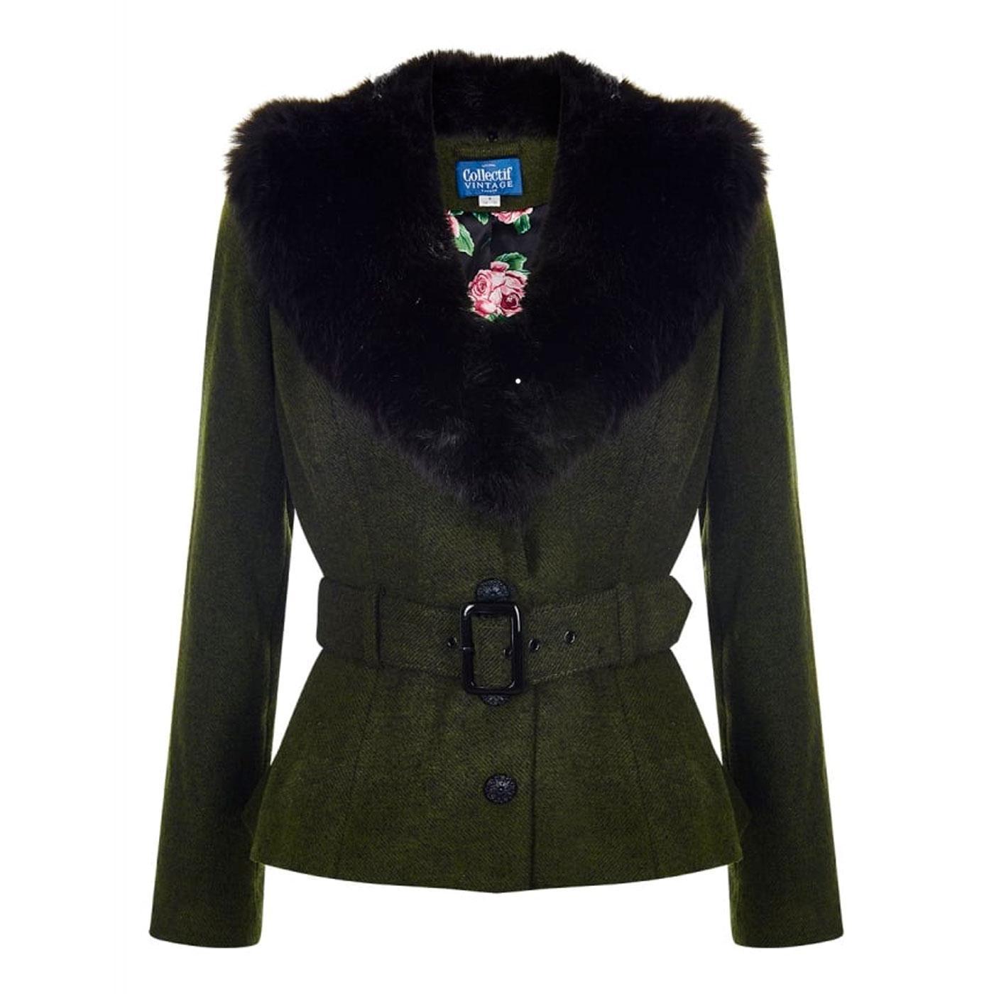 Molly COLLECTIF Vintage Faux Fur Collar Jacket OG
