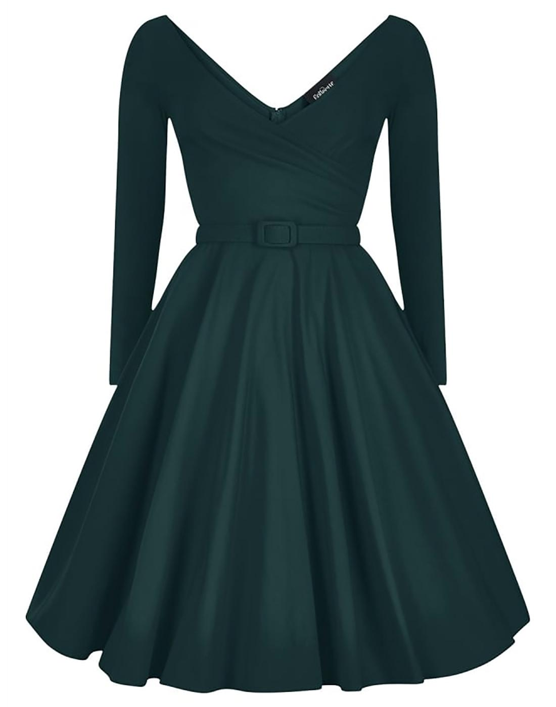 Nicky COLLECTIF Retro Vintage 50s Party Dress Teal