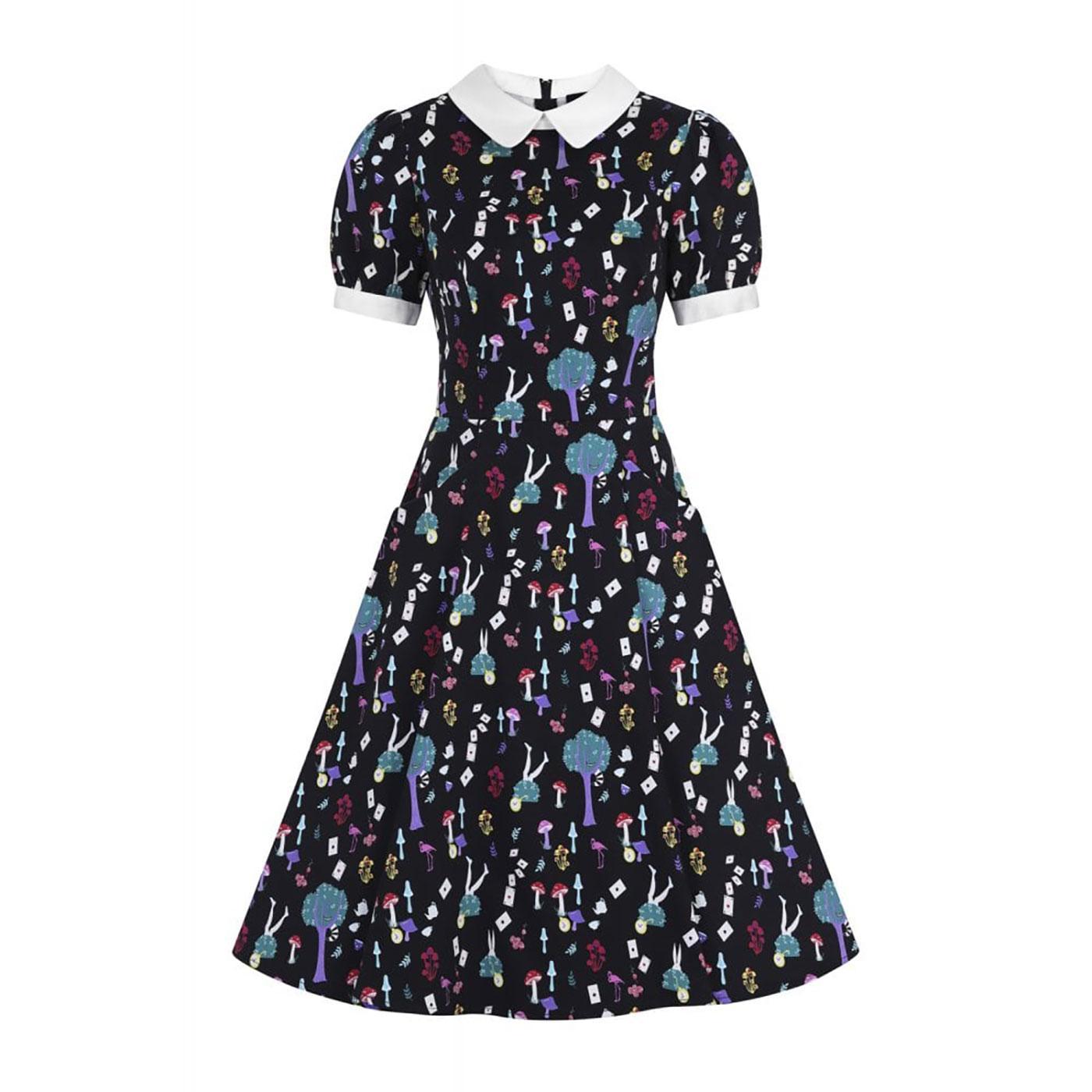Peta in Wonderland COLLECTIF Printed Swing Dress