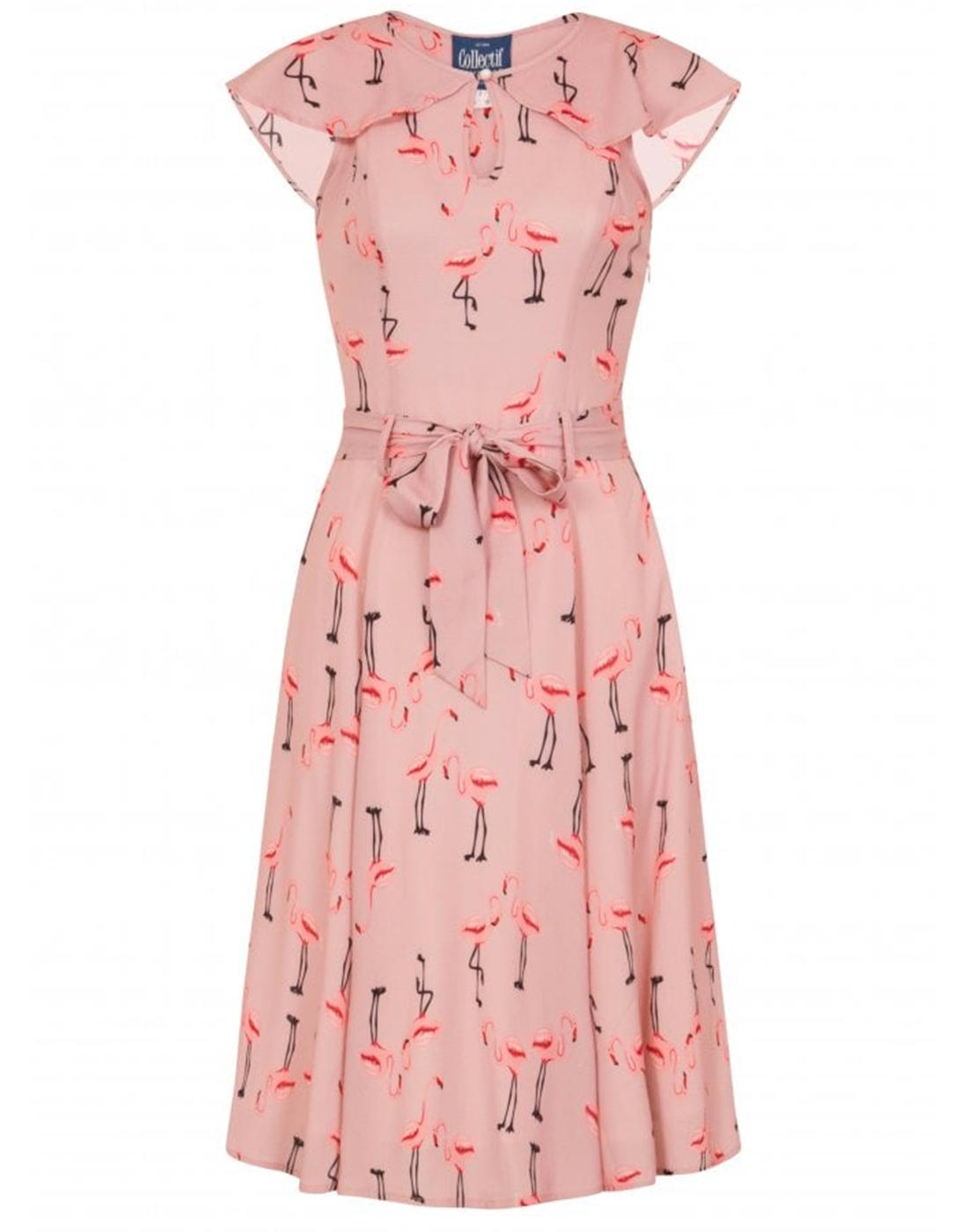 Tamara COLLECTIF Retro Vintage 50s Flamingo Dress