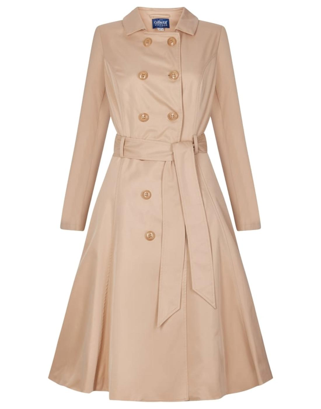 Korrina COLLECTIF Retro Vintage 50s Trench Coat B