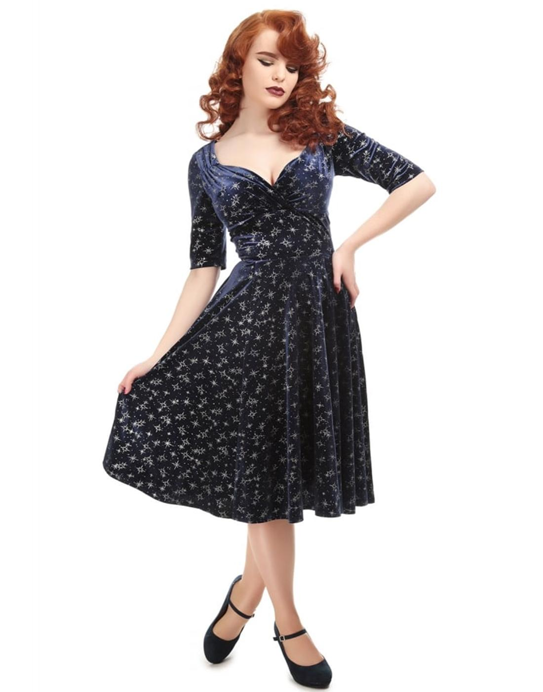 Trixie Velvet COLLECTIF Retro Vintage Doll Dress
