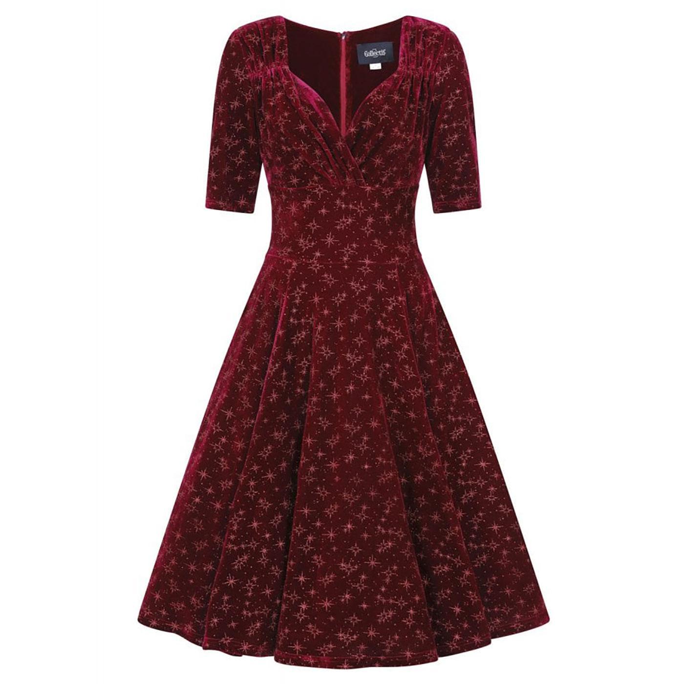Trixie Velvet COLLECTIF Retro Vintage Doll Dress W