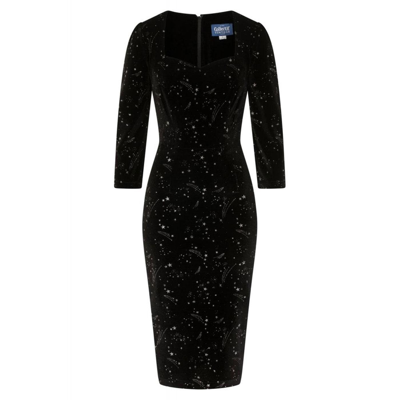 Vanessa COLLECTIF Make A Wish Pencil Dress Black