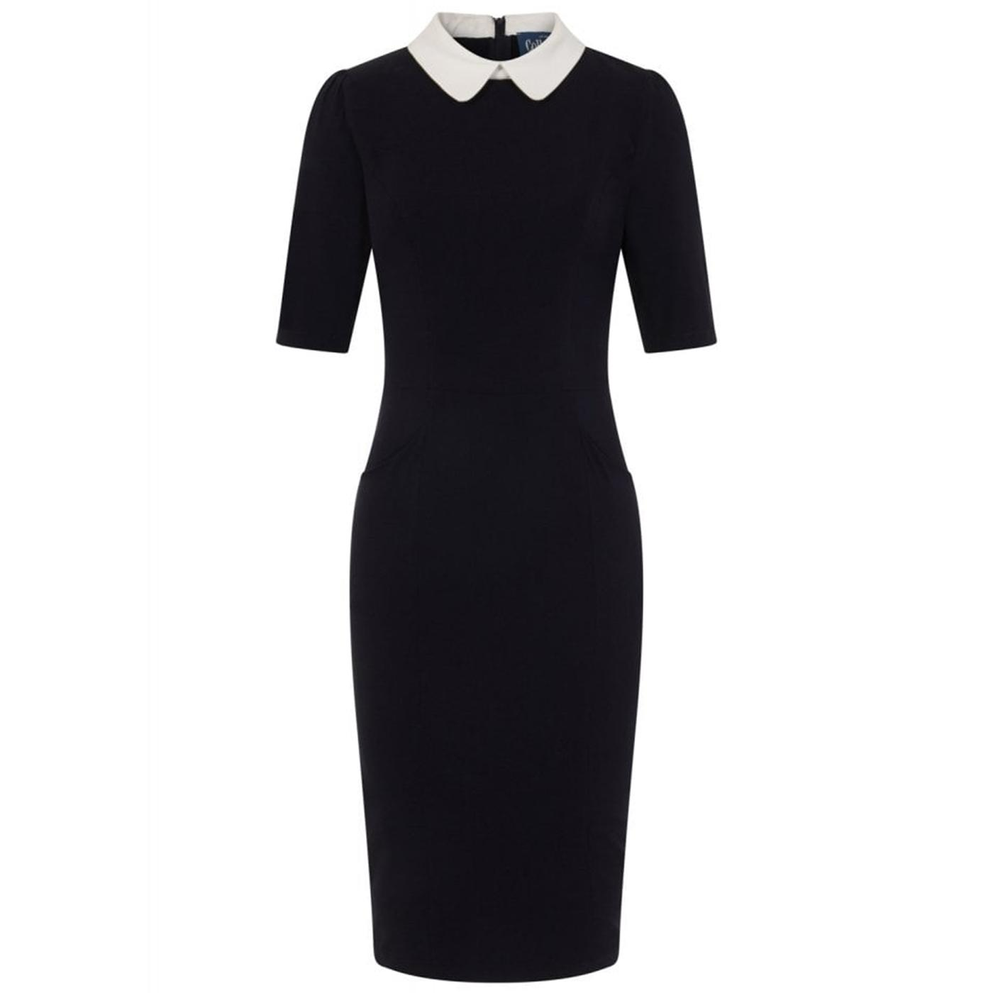 Winona COLLECTIF Vintage 60s Pencil Dress Navy/Wht