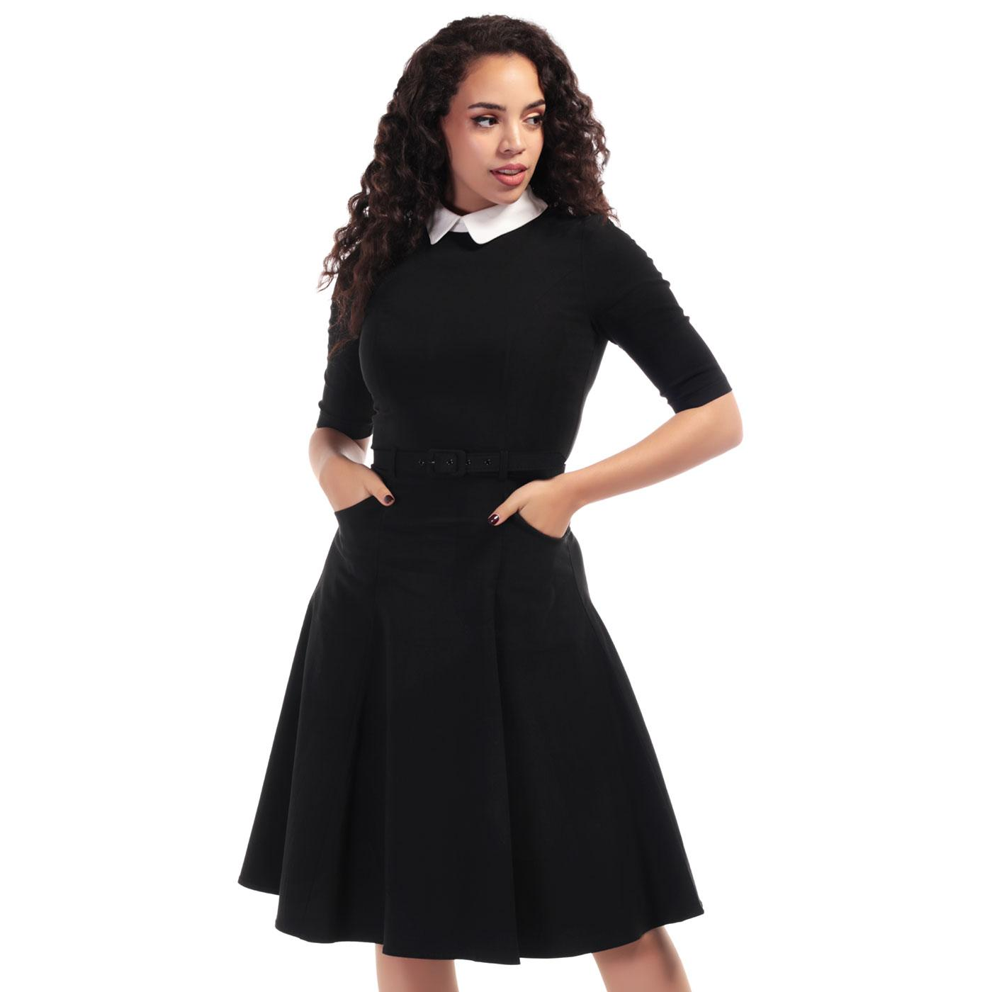 Winona COLLECTIF Retro Mod 60s Black Swing Dress